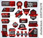 black friday sale banners and... | Shutterstock . vector #1053736178
