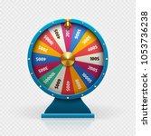 roulette 3d fortune wheel... | Shutterstock . vector #1053736238
