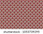abstract raster flowers in...   Shutterstock . vector #1053739295