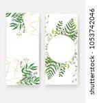 wedding invitation card... | Shutterstock .eps vector #1053742046