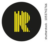 modern cool r letter lines... | Shutterstock .eps vector #1053742766
