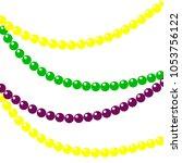 background of beads for mardi... | Shutterstock . vector #1053756122