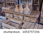 view of a furniture of drawers. ... | Shutterstock . vector #1053757256