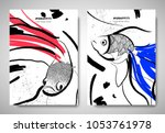 cover  invitation card template ... | Shutterstock .eps vector #1053761978