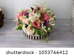 natural floral arrangement for... | Shutterstock . vector #1053766412