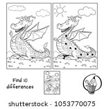 funny dragon. find 10... | Shutterstock .eps vector #1053770075