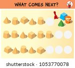 sand cakes and children's toys. ... | Shutterstock .eps vector #1053770078