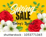 spring sale  todays special... | Shutterstock .eps vector #1053771365