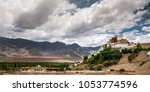 thiksey monastery in leh ... | Shutterstock . vector #1053774596