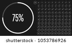 set of circle percentage... | Shutterstock .eps vector #1053786926