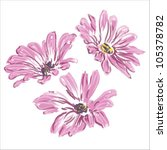 Three Rose Daisywheels