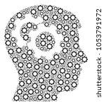 intellect gears collage of gear ... | Shutterstock . vector #1053791972