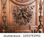 wood sculpture in florence... | Shutterstock . vector #1053792992