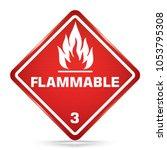 international flammable class 3 ... | Shutterstock .eps vector #1053795308