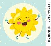 vector illustration of cartoon... | Shutterstock .eps vector #1053796265