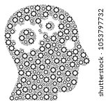 intellect gears composition of... | Shutterstock . vector #1053797732