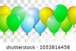 realistic helium balloons... | Shutterstock .eps vector #1053816458