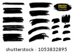 large set different grunge... | Shutterstock .eps vector #1053832895