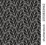 geometric seamless leaf vector... | Shutterstock .eps vector #1053833462