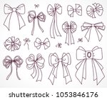 set of bows for the design... | Shutterstock .eps vector #1053846176