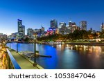 melbourne on the northbank of... | Shutterstock . vector #1053847046
