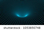 tunnel or wormhole. abstract... | Shutterstock .eps vector #1053850748