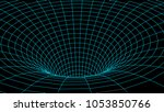 tunnel or wormhole. abstract...   Shutterstock .eps vector #1053850766