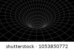 tunnel or wormhole. abstract...   Shutterstock .eps vector #1053850772