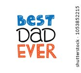 happy father's day banner and... | Shutterstock .eps vector #1053852215