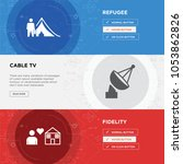 fidelity  cable tv  refugee... | Shutterstock .eps vector #1053862826