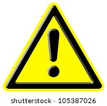 danger warning signal   Shutterstock . vector #105387026