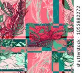 seamless vector pattern with... | Shutterstock .eps vector #1053882272
