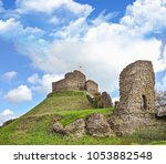Small photo of Launceston castle in Launceston, Cornwall, England. It was probably built by Robert the Count of Mortain after 1068. Launceston Castle formed the administrative centre of the new earldom of Cornwall.