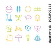 collection of vector outline... | Shutterstock .eps vector #1053903365