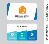 house cleaning business card... | Shutterstock .eps vector #1053904022