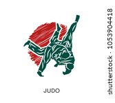 judo logo isolated on white... | Shutterstock .eps vector #1053904418