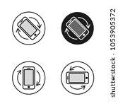 phone rotate symbols set.... | Shutterstock .eps vector #1053905372