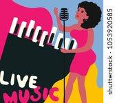 jazz music festival colorful...   Shutterstock .eps vector #1053920585