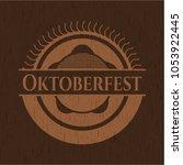 oktoberfest wood emblem. retro