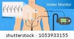 holter monitoring system... | Shutterstock .eps vector #1053933155
