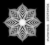 mandala. silver round ornament... | Shutterstock .eps vector #1053934436