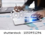 gdpr. data protection... | Shutterstock . vector #1053951296