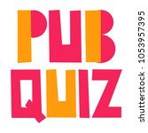 pub quiz. vector hand drawn... | Shutterstock .eps vector #1053957395