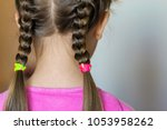 close up rear  vew portrait of... | Shutterstock . vector #1053958262