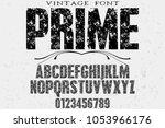 font alphabet typeface vector...   Shutterstock .eps vector #1053966176