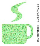 hot coffee cup collage of round ...   Shutterstock .eps vector #1053974216