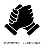soul brother handshake  thumb... | Shutterstock .eps vector #1053979826