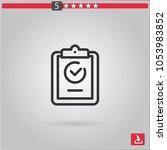 clipboard vector icon | Shutterstock .eps vector #1053983852