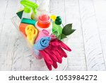 bio organic natural cleaning... | Shutterstock . vector #1053984272