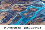 aerial view and top view river... | Shutterstock . vector #1053984485